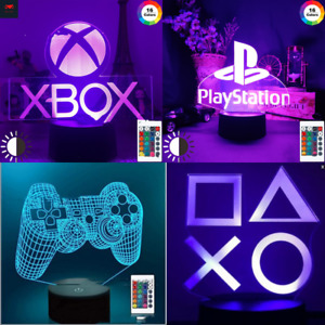 Nightlight colour changing bedroom decorative lamp Xbox & Playstation bed light