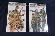 2 Tamiya Military Miniatures Army Assault Infantry and German Machine Gun Sealed