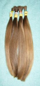 HUMAN HAIR FOUR LIGHT BROWN PONYTAILS FROM ONE FEMALE HAIRCUT REBORN DOLLS R07