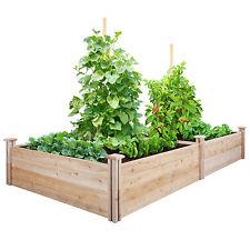 Greenes Cedar Raised Garden Kit 4 Ft. X 8 Ft. X 14 In. RC12S28B