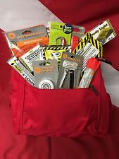 Emergency starter bug out bag kit christmas gift stocking stuffer red backpack
