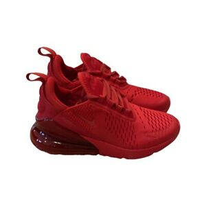 Nike Air Max 270 GS Size 7y Women's 8.5 Triple Red Running Shoes CW6987-600