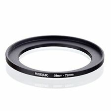 RISE(UK) 58mm-72mm 58-72 mm 58 to 72 Step Up Ring Filter Adapter black