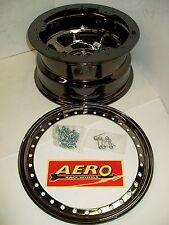 """Aero 53-985030BLK Black Chrome Beadlock Wheel 3"""" Offset 5 on 5"""" 15x8 modified"""