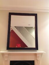 LARGE TIMBER FRAMED MIRROR 1050 X 1330 MM DARK BROWN WITH GOLD TRIM