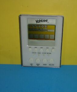 YAHTZEE White Slim Electronic Handheld Portable Pocket Travel Game Hasbro 2007
