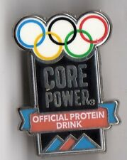 PYEONGCHANG 2018 OLYMPIC GAMES. SPONSOR PIN. CORE POWER. OFFICIAL PROTEIN DRINK