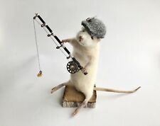 Taxidermy Mouse / Rat / Rodent - Fisherman - Made To Order