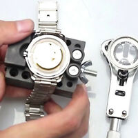 Adjustable Stainless Steel Watch Case Open Watch Back Remover Wrench Tools