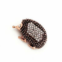 Betsey Johnson Women's Cute Crystal Hedgehog Charm Animal Retro Brooch Pin Gift