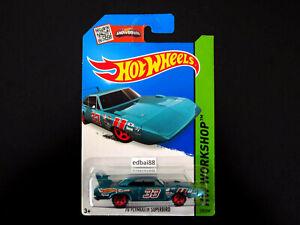 Hot Wheels 2015 Mainline '70 Plymouth Superbird Die-cast Car, HW Workshop Teal