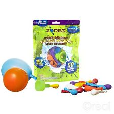 New Zorbz 50 Self-Sealing Water Balloons & Connector Bombs Outdoor Official