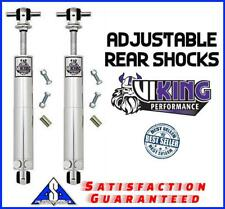 Viking Performance Ford F150 2WD Smooth Body Double Adjustable Rear Shocks Pair