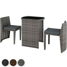 Salon de Jardin Résine Tressée 2 Personnes Mobilier encastrable Chaises Table