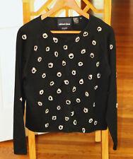 Michael Simon DIAMONDS ARE A GIRLS BEST FRIEND Cardigan Sweater S M RINGS! HINT!