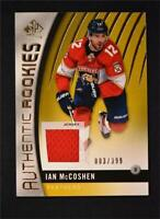 2017-18 Upper Deck SP Game Used Gold Jersey Rookies #158 Ian McCoshen /399