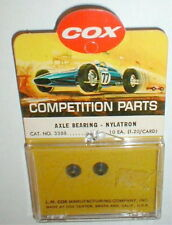 """1 Pair Axle Bearing Nylatron by COX #3388 Special 1/8"""" 1960 Vintage NOS slot car"""