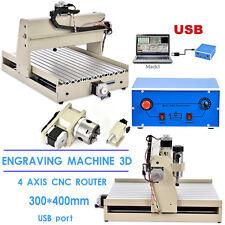 USB 4 ASSI MACCHINA PER INCISIONI 3040T CNC LAVORAZIONE LEGNO 3D CUTTER FORATURA