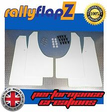 Parafanghi stile Rally PEUGEOT 207 parafanghi Qty4 rallyflapZ (3mm PVC) Bianco