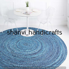 Hand Braided Rag Rug Handmade Round 120 CM Home Decoration Floor Area Rug Carpet