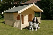 luxury double dog kennel with own veranda
