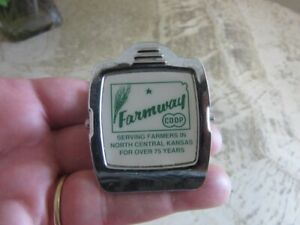 Farmway Co Op advertising magnet memo clip. Kansas