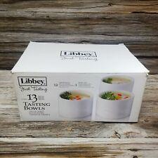 13 Pc Libbey Just Tasting Round Ceramic Bowl Serving Set White Mini Appetizers