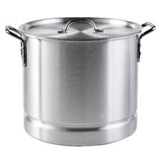 New listing Steamer Pot Aluminum 32 Qt. Cooking With Lid Removable Steam Tray Tamale Crab