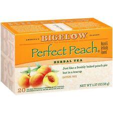 Bigelow Perfect Peach Herbal Tea Box of 20 Bags NEW