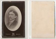 Bevierre, Charleroi, Portrait de jeune homme CDV vintage albumen  Tirage album