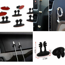 8 X Car Wire Cord Clip Cable Holder Tie Fixer Organizer Drop Adhesive Clamp KY