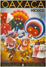 TT41 Vintage 1940's Oaxaca Mexico Mexican Travel Poster Re-Print A1 A2 A3