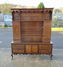 VERY OLD ANTIQUE PERIOD OAK INLAID DRESSER       DELIVERY AVAILABLE