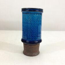 HAK Herman A Kahler Stoneware Turquoise/Blue Miniature Cylinder Vase Nils Kahler