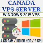 CANADA VPS / RDP - WINDOWS 2019 RDP SERVER / VPS SERVER 4 GB RAM + 150 GB HDD