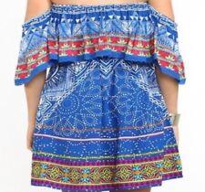 Flying Tomato Dress Gypsy Fiesta Boho Off Shoulder Women Size L