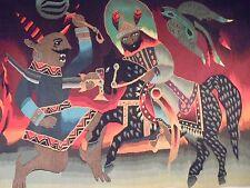 Tapisserie Art déco. XXème Sublime tissage Type Aubusson - Tunisie Circa 60/70