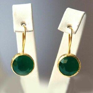 Women 18K Gold Hoop Earrings Stud Engagement Party Jewelry Best Gift