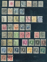 LUXEMBOURG LOT OF 46 EARLY STAMPS GRAND DUKE ADOLF CHARLOTTE SEE SCANS