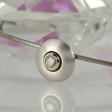 Reinheit SI Natürliche Echtschmuck-Halsketten & -Anhänger aus Weißgold