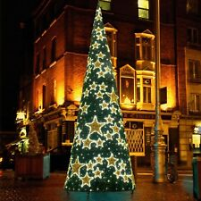 6.4M 21FT OUTDOOR MAINS PLUG IN TWINKLING CHRISTMAS HOLLYWOOD ILLUMINATED TREE