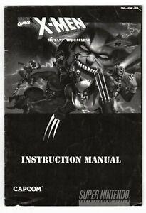 X-Men: Mutant Apocalypse (Super Nintendo, 1994) Booklet ONLY