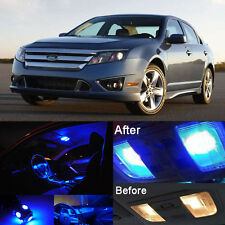 Blue LED SMD Lights Lamp Interior Package Kit for Ford Fusion 2006-2012 (10Pcs)