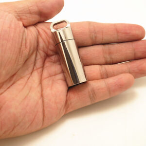 Titanium Survival Waterproof Pill Container Case Match Outdoor EDC Box Bottle