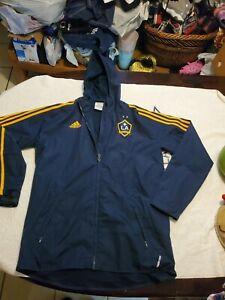 Adidas MLS LA Galaxy Stadium Jacket Mens M Full Zip Herbalife Hooded EUC 2011