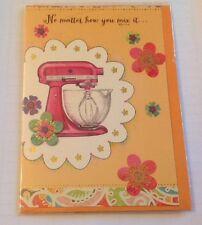 VINTAGE Look Baking MIXMASTER Happy Birthday Greeting Card With Envelope