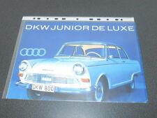 AUDI brochure catalogue DKW junior de luxe - Edition 1961-1963