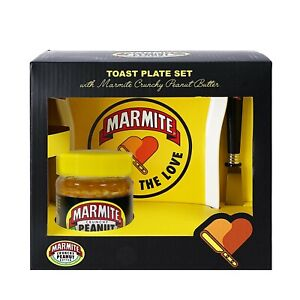 Marmite - Peanut Butter Ceramic Toast Plate Gift Set Very Rare!