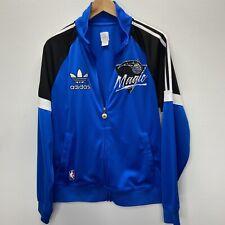 Vintage NBA Orlando Magic Mens Embroidered Warm Up Jacket Size M Adidas Blue