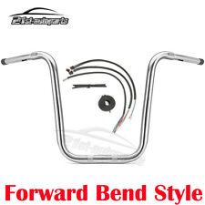 """Rise 16"""" Ape Monkey Bar Handlebar + Extend Wire For Harley Road Glide Cvo Flhrxs"""